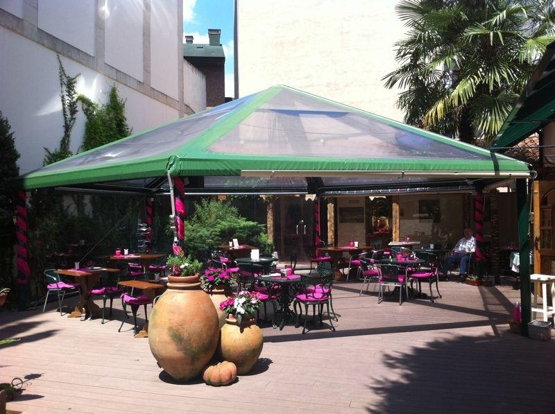 Carpa hexagonal terraza 2